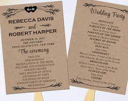 wedding programs exles wedding program template rustic diy printable program