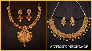 gold antique necklace sets images Gold antique necklace set images jpg