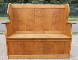 Storage Seat Bench Pine Settle Bench Storage Seat
