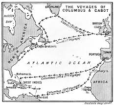 map of columbus file map of the voyages of columbus and cabot wellcome m0007960
