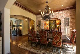 Mediterranean Dining Room Furniture Decorative Dining Room In Dentil Molding House Part Of Dining