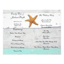 Beach Wedding Program Templates Wedding Programs Templates Gifts Wedding Programs Templates Gift