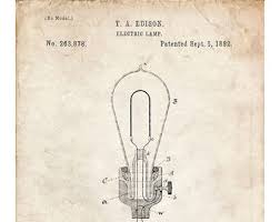 light bulb patent etsy