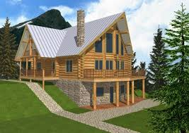 cabin style house plans home office