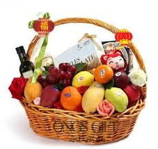 new years basket new year fruit