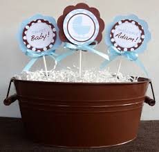 brown and blue baby shower ideas babywiseguides com