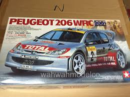peugeot 206 rally tamiya 24236 1 24 peugeot 206 wrc 2001 wah wah model shop