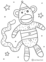amazing as well as stunning sock monkey coloring pages with regard