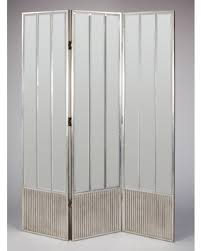 new savings on modart 3 panel silver mirrored screen room divider