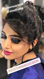 makeup artistry school vejetha anand s hair and makeup academy students work budding
