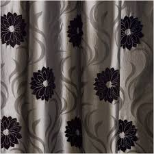Black And Silver Curtains Faux Silk Lined Curtains Silver Grey Black 46x72 Co Uk