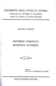 lettere e filosofia ct antonella morina tesi di laurea antonino gandolfo