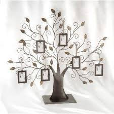 elegance silver family tree picture frame for the home