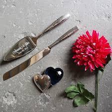 wedding gift knife set nambe tilt dazzle cake knife and server set custom engraved