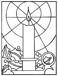 christmas candle coloring page crayola com