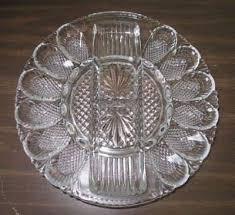 glass deviled egg platter vintage deviled egg plate hobnail clear glass dish tray serving