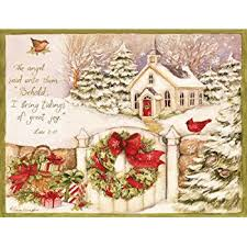 lang window box snow boxed cards
