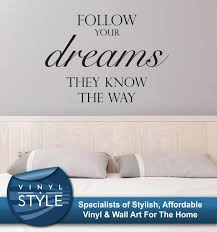 wall decals stickers home decor home furniture diy follow your dreams decor decal sticker wall art graphic various colou