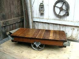 railroad cart coffee table railroad coffee table restoration hardware cart coffee table large