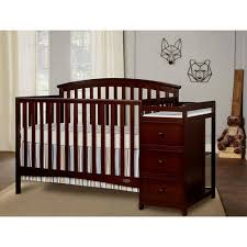 Convertible Crib With Changing Table On Me Niko 5 In 1 Convertible Crib With Changer Espresso