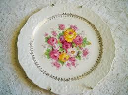 roses china oldfashionedcharm vintage edwin knowles cremelace roses china
