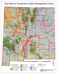 Map New Mexico by Noxious Weed Information New Mexico Department Of Agriculture