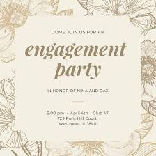 engagement invitation templates canva