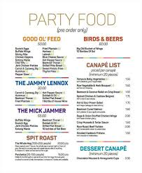food list sample sample food menu 7 documents in pdf word