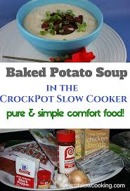 slow cooker baked potato soup recipe a year of slow cooking