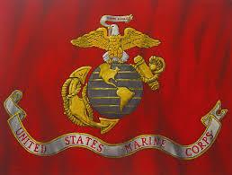 Usmc Flag Officers Urban Impressionist Marine Corps Flag Oil Painting