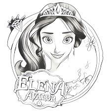 princess elena coloring coloring