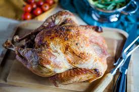 and easy roasted turkey with white wine for thanksgiving