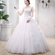 marriage dress for vintage bridal dress a line gown embroidery dress sleeveless