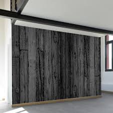 black stained wood wall mural wallsneedlove