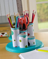 Pen Organizer For Desk Make A Desk Organizer Out Of Toilet Paper And Paper Towel Tubes