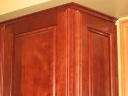 scribe molding for kitchen cabinets this has a tiny crown molding rather than scribe molding image