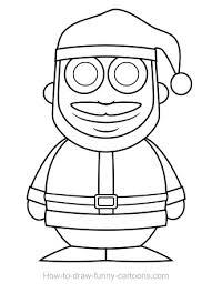 santa claus drawing sketching vector