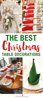 christmas table decorations the best christmas table setting decorations home decor