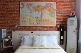 row home decorating ideas clever repurposing door headboard ideas