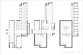 Floor Plan Library by Basement Floor Ground Floor And First Floor Plans Alvar Aalto