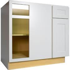 42 inch blind corner base cabinet left in bright white shaker