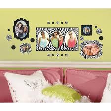 roommates rmk2022scs zebra frames peel and stick wall decals roommates rmk2022scs zebra frames peel and stick wall decals decorative wall appliques amazon com