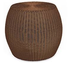Wicker Accent Table Palmetto All Weather Wicker Accent Table Honey Pottery Barn
