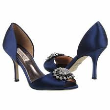 wedding shoes navy badgley mischka bridal wedding shoes