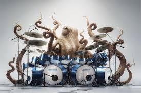 aliexpress com buy drums octopus music funny animal poster home