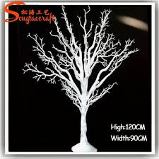6ft artificial tree trunk tree for decoration in white golden or