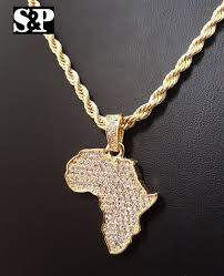 rope necklace pendant images Hip hop iced out africa pendant rope chain 11mm 24 quot herringbone nec jpg