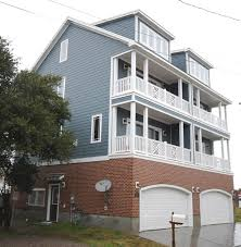 apartments three story house story beach house plans three on