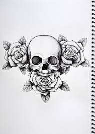 skull flowers designs sugar skull and roses