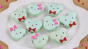 how to make valentine u0027s day bear macarons youtube